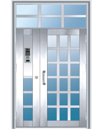 不锈钢楼宇单元门 TM-2202