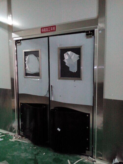 【土大力】餐饮管理有限公司自由防撞门成功案例