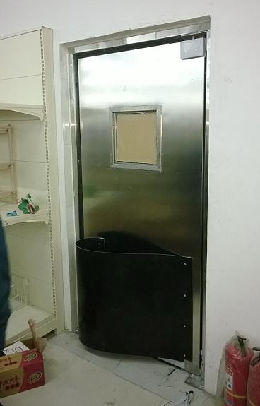 超市不锈钢自由防撞门