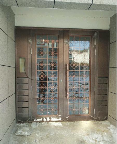 不锈钢仿铜楼宇门 TM-9408