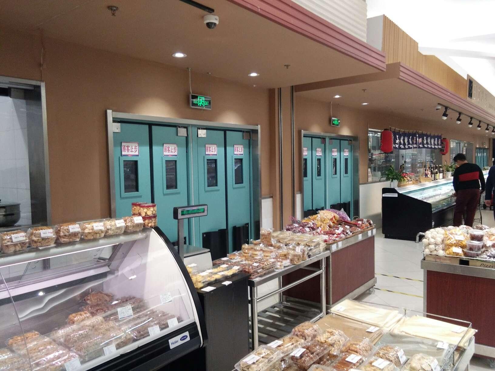 超市不锈钢自由门