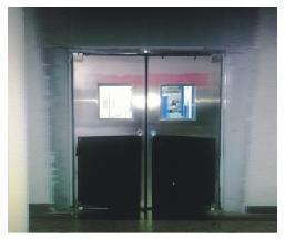 【济南】浪潮电子不锈钢防撞门加工成功案例