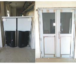 【北京】护苗食品车间不锈钢防撞自由门不锈钢玻璃门加工案例