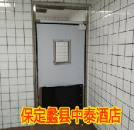 【保定】蠡县中泰酒店防撞自由门安装项目