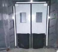 【青岛】朝日食品厂不锈钢撞击门安装项目