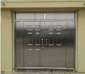 庭院不锈钢大门 安装实拍案例