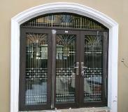 钢质大门喷塑门 安装案例