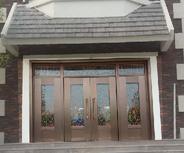 【即墨香根温泉】 售楼处不锈钢大门 安装案例