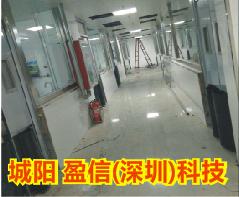 【青岛】城阳盈信科技不锈钢自由门和不锈钢平开门加工案例