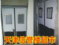 【天津信誉楼】商城不锈钢自由门安装案例