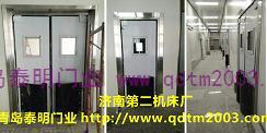 济南第二机床厂---青岛泰明不锈钢防撞自由门案例