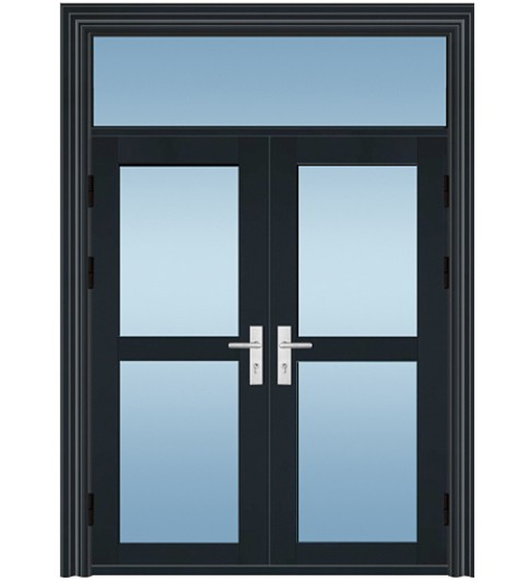 TM-7102 钢制玻璃防盗门