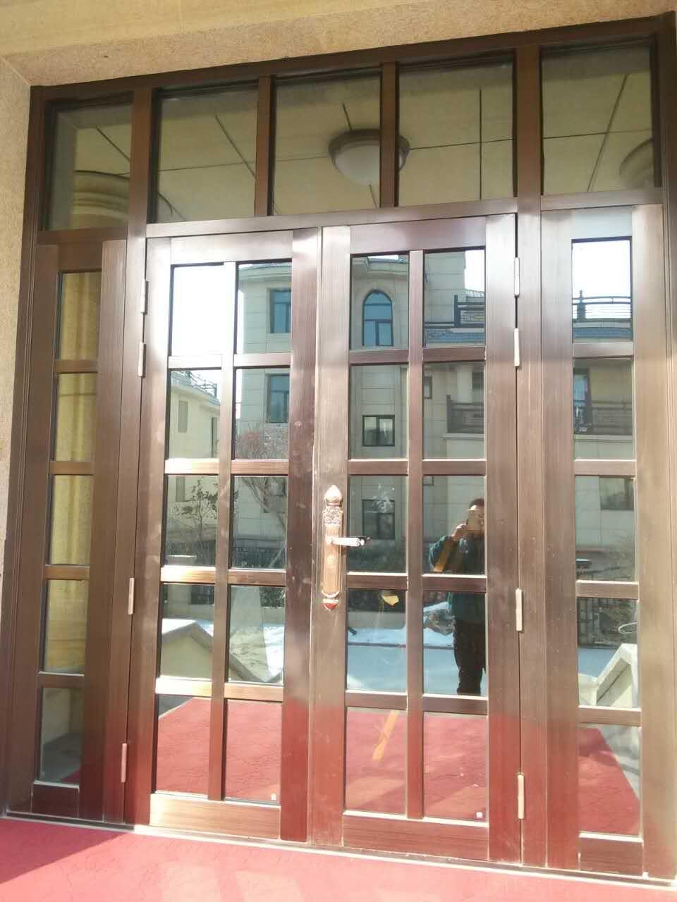 镀膜玻璃不锈钢门图片