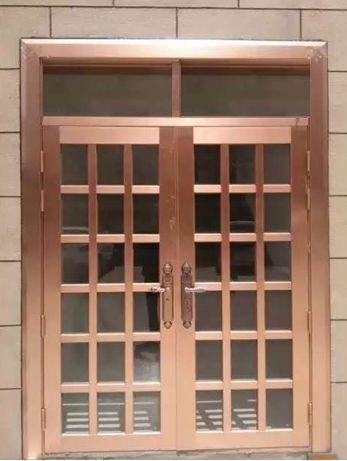 TM-2008  不锈钢镀钛红古铜门
