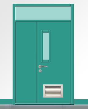 钢质学校门|教室门|走廊门|厕所门 003