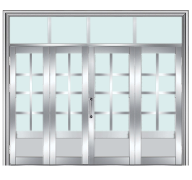 四开不锈钢门 小区单元门