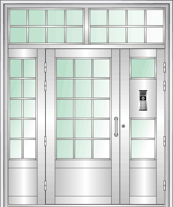 三开门 不锈钢门楼宇单元门