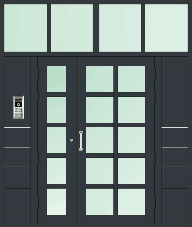四开门  小区单元门