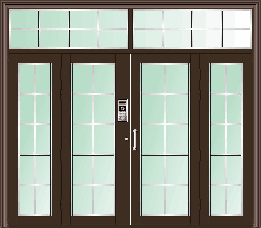 高层小区单元门喷塑玻璃门