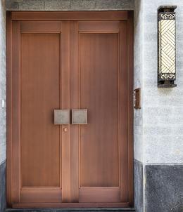 别墅整板铜门