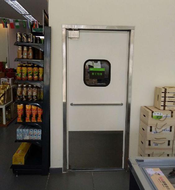 小型超市便利店自由门铝板防撞门