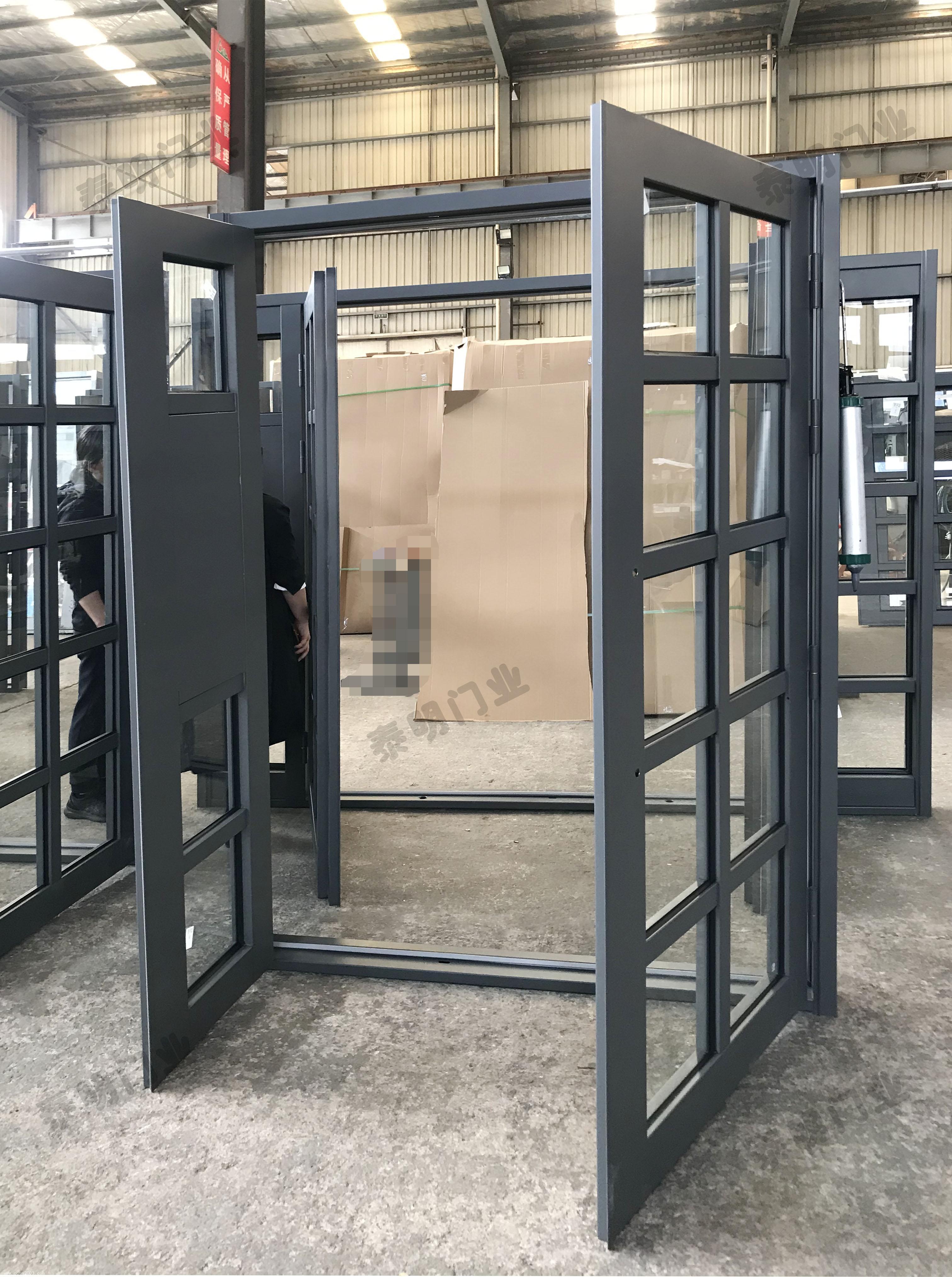 镀锌喷塑子母单元门